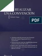 Como Realizar Una Convencion