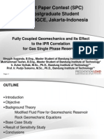 Geomechanic Effect for Gas Single Phase Reservoir