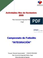 actividades noviembre 2009