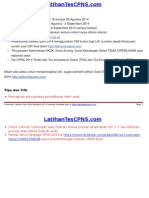 Formasi CPNS Daerah 2014