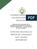 Análisis Publicitario de Delgadol y Yogurt Regeneris