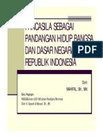 1 Pancasila Sebagai Pandangan Hidup Bkjbzdlcbangsa Dan Dasar Negara Republik Indonesia
