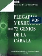 Plegarias Y Exhortos de Los 72 Genios de La Cábala (Kabaleb)