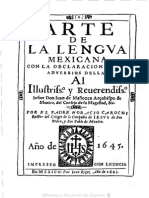 Arte de La Lengua Mexicana Horacio Carochi 1645