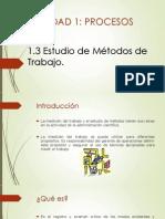 Estudio de Metodos de Trabajo Exponer