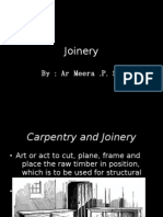 Power Point presentation on Timber joinery.
