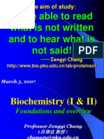 Biochemistry Chapter 1 and 2