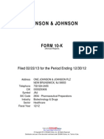 2012 Johnson Johnson Form10-K