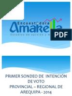 Presentación-Primera Encuesta de Intención de Voto - Arequipa 2014