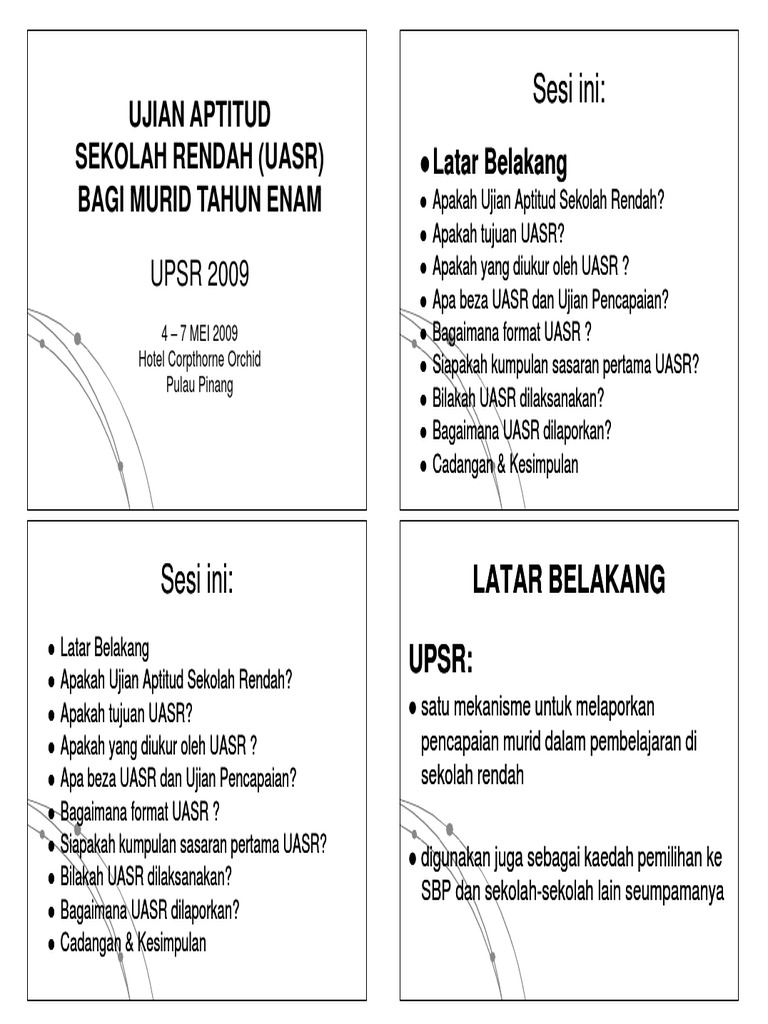 UPSR Aptitude Test
