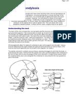 Cervical Spondylosis Info Exercises