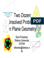 Erich Friedman - Two Dozen Unsolved Problems in Plane Geometry - 2 004 03 27 - 60p