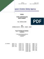 EASA TCDS A.064 AIRBUS A318, A319, A320, A321 Single Aisle