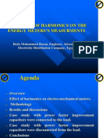 The Effect of Harmonics on Energy Meters Measurements