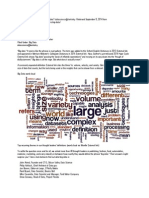 Dutcher (2014) What is Big Data