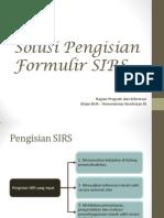 7. Solusi Pengisian Formulir SIRS