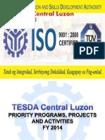 TESDA Central Luzon Presentation 2014