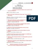 Evidence Rule 130 Outline