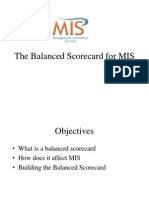 The Balanced Scorecard for MIS