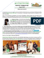 MAR2 Monthly Newsletter (Aug 2014)