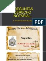 Preguntas Derecho Notarial 2013 Dr. Alirio Orantes
