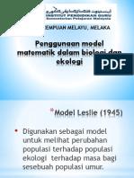 Penggunaan Model Matematik Dalam Biologi Dan Ekologi