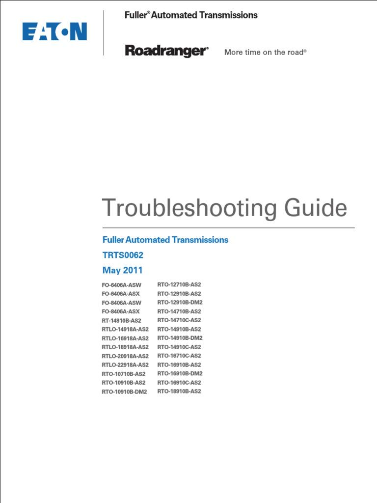 eaton fuller autoshift troubleshooting guide free owners manual u2022 rh wordworksbysea com Eaton Fuller Rear Axles Eaton Fuller 10 Speed Transmission Diagram