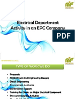 Electrical Department Activity in EPC Company