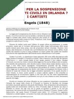 MIA - Engels_ La Legge Per La Sospensione Dei Diritti Civili in Irlanda e i Cartisti (1948)