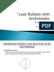 Luas Bulatan Oleh ARCHIMEDES