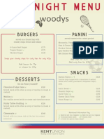 Woodys Late Night Menu 2014