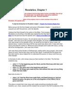 Revelation Chapter 1 explained
