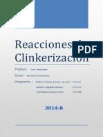 Reacciones Que Se Producen en La Fabricación Del Klinker