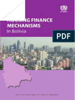 Housing Finance Mechanisms in Bolivia