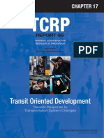 Transit Oriented Development - Traveler Response to Transportation System Changes TCRP Report 95