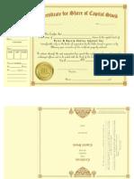 Stock Certificate as of Dec. 27, 2011