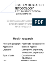 Health System Research Metodology