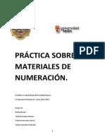 Práctica Sobre Materiales de Numeración