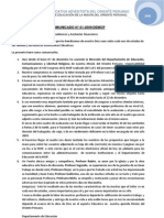 COMUNICADO 001-2009-DEMOP