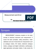 Measurement and Error