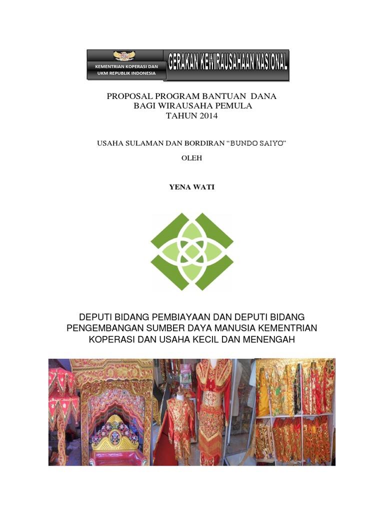 Contoh Proposal Wirausaha Pemula Pdf Goresan