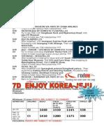 7d Enjoy Korea - Jeju