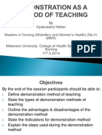 Demonstration Method of Teaching