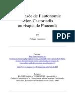 Pensée de l'Autonomie Selon Castoriadis Au Risque de Foucault