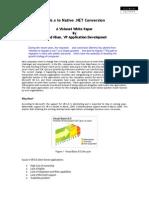 VB 6.x to Native .NET Conversion - A Visionet White Paper