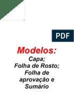 Modelos- Capa, Folha de Rosto, Folha de Aprovação...