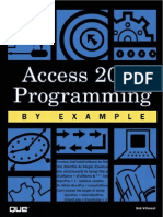 Access 2002 Programming by Example