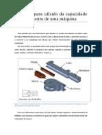 Método Para Cálculo Da Capacidade de Curvamento de Uma Máquina