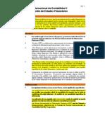 NIC 1 Presentacion de Estados Financieros Version 2009