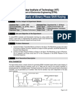 3. Study of Binary Phase Shift Keying